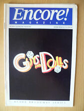 1994 Jackie Gleason Theater Programme: GUYS AND DOLLS by Jerry Zaks