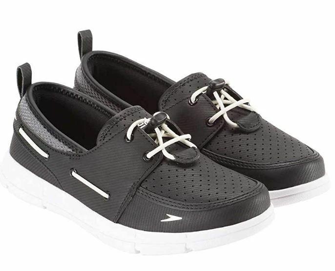 Speedo Women's Port Lightweight Breathable Water Shoes, Black, 10