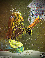 Fairy Holding Starry Lights2/fairies/whimsical Poster/mystical Poster/17x22 In