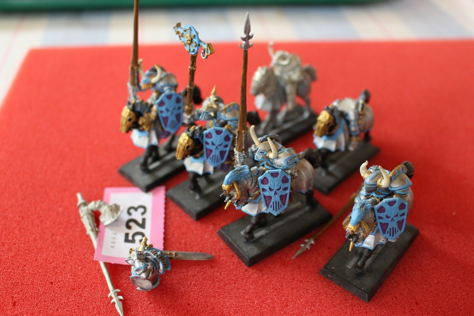 Warhammer chaos ritter x6 regiment metall - kunststoff - games workshop malte armee gw