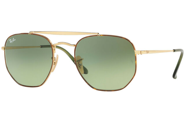 09a3c0d059 RAY BAN RB3648 Marshall Hexagonal Gold Metal Sunglasses - New in Box -  188+