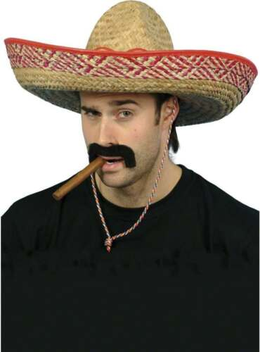 FANCY DRESS MENS SOMBRERO STRAW HAT COWBOYS//INDIANS
