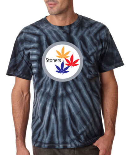 "TIE-DYE Pittsburgh Steelers /""Stoners/"" T-Shirt"