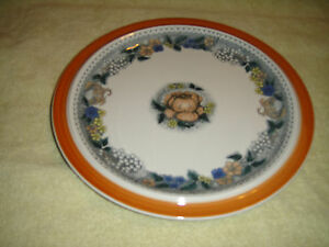 Goebel-Country-Burgund-Dinner-Plate-Bavaria-W-Germany-Oeslauer-LOOK-Lovely
