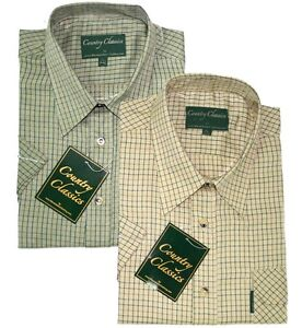 Short-Sleeve-Country-Classic-Check-Shirts-Cartmel-Special-Offer-14-99-FREE-POST