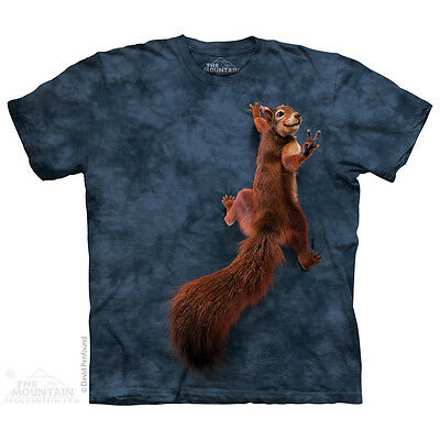 Peace Squirrel T-Shirt by The Mountain. Pets Sizes S-5XL NEW