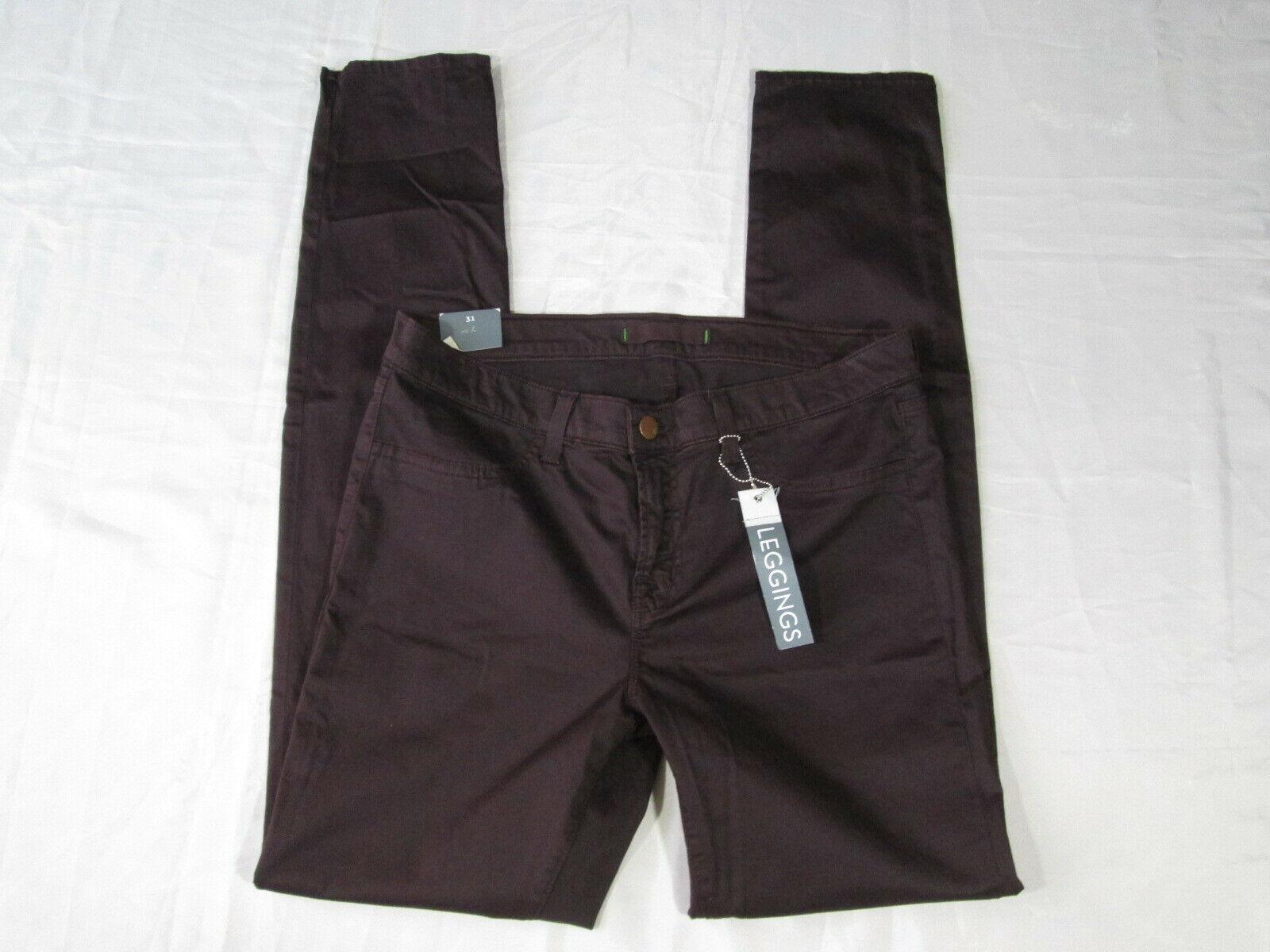 J Brand Leggings 901 Low Rise Skinny Leg Denim Jeans Wine Sz 31 NWT  302