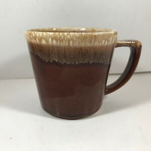 Vintage McCoy Pottery Brown Drip Glaze Coffee Cup