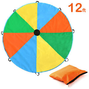 12Feet Kids Play Rainbow Parachute Outdoor Game Development Exercise