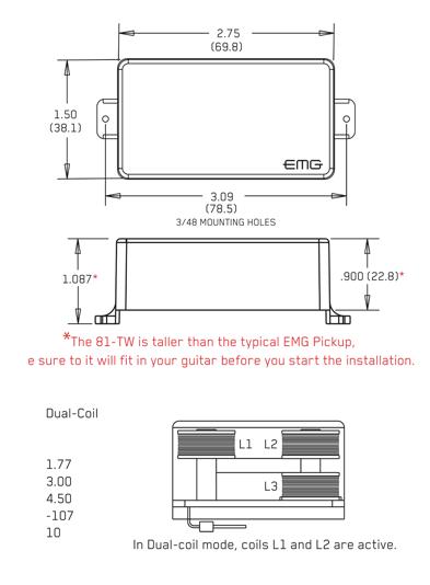 Terrific Emg 81Twr Ivory Dual Mode Humbucker Reverse Single Single Single Wiring 101 Capemaxxcnl