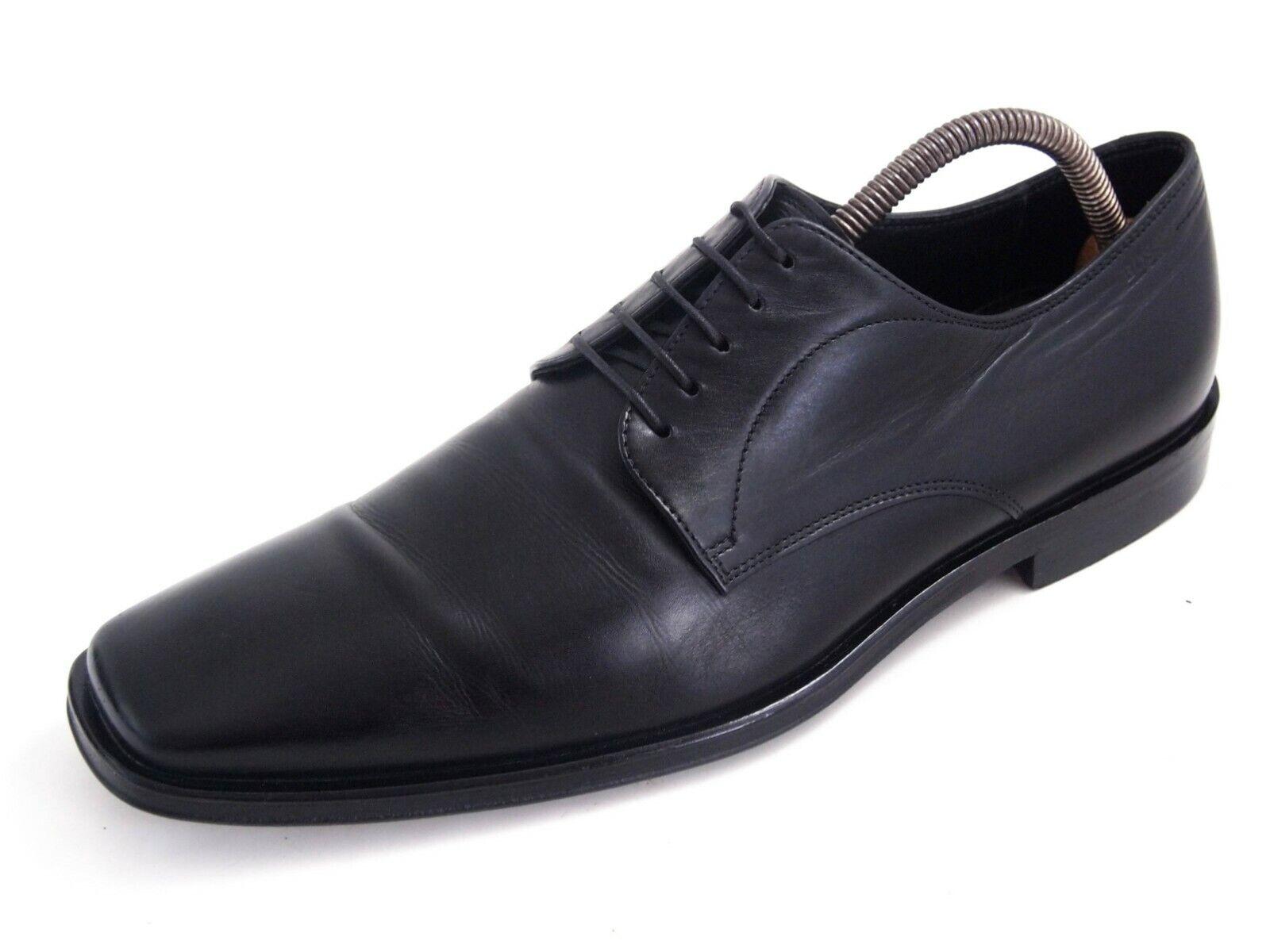 Hugo Boss Oxfords Tamaño de Cuero Negro Para Hombre Zapato nos 8.5