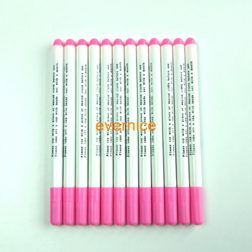 12Pieces Water Erasable Disappearing Pen For Fabric Garment Marking