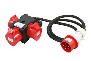 91445-CEE-Adapter-16A-400V-3-x-16A-Baustromverteiler-Stromverteiler-Verteiler