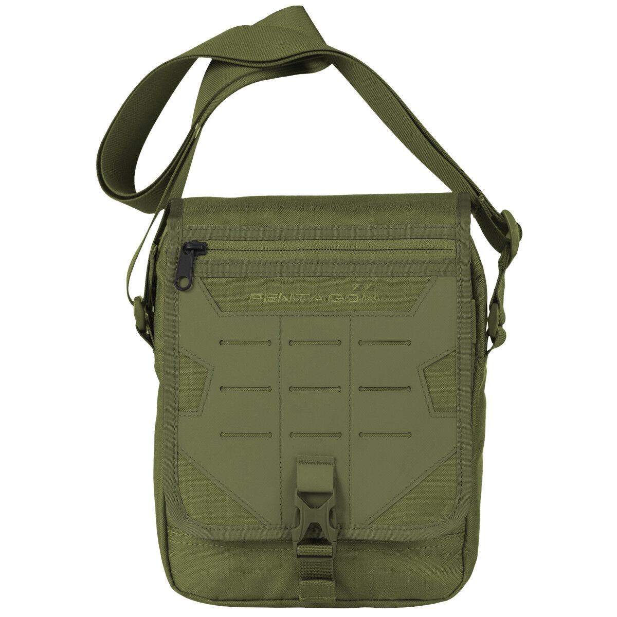 Pentagon Messenger Utility Bag Military Army Hunting MOLLE Shoulder Carry Olive