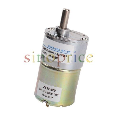 12V DC 60 RPM Reversible High Torque Gear-Box Speed Control Electric Motor