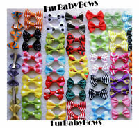 30x Pet Puppy Grooming Alligator Clips 1 Free Cute Dog Bow Dog Hair Yorkie