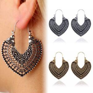 e2908b0e7 Image is loading Womens-Boho-Infinity-Spiral-Gypsy-Heart-Earrings-Tribal-