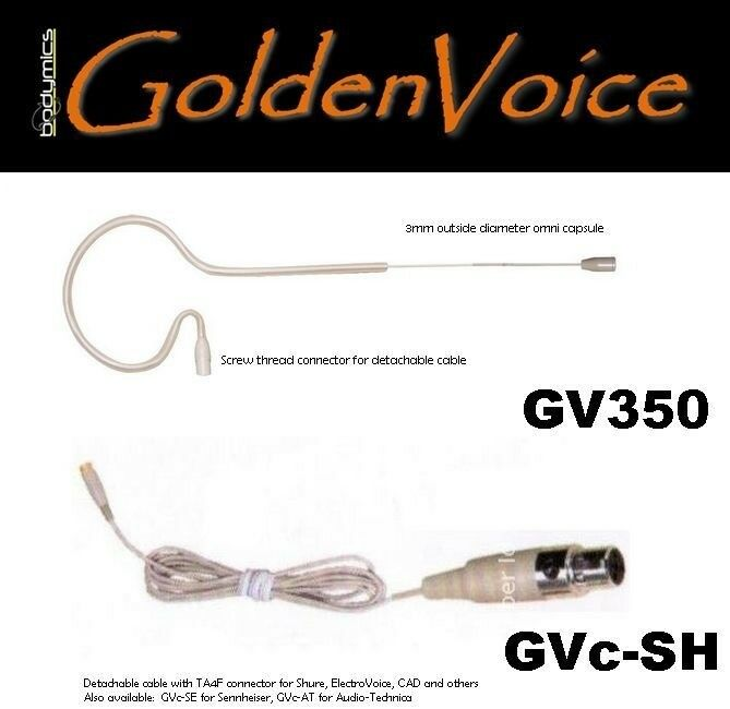 GoldenVoice GV350c Earset Microphone Cream -to suit AKG, ATm Sennheiser, Shure