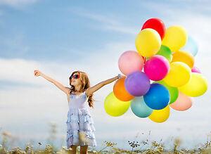 """22 cm 9/"""" Ballon Balloon 100 Luftballons Ballons Luftballon Farbe wählbar Ø ca"""