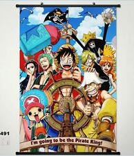 One Piece Monkey D. Luffy Home Decor Anime Poster Wall Scroll Christmas Whole a