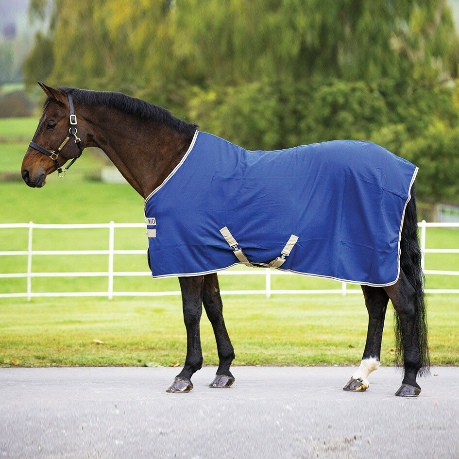 Horseware Mio STABLE SHEET double front closures and fillet fillet fillet string Navy/Tan ALL d9d6f6