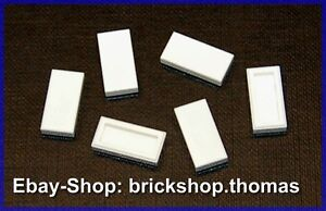 Azulejo 1 X 2 IN Tile Nuevo Lego 50 Pieza Blancos Baldosas 1x2 3069b