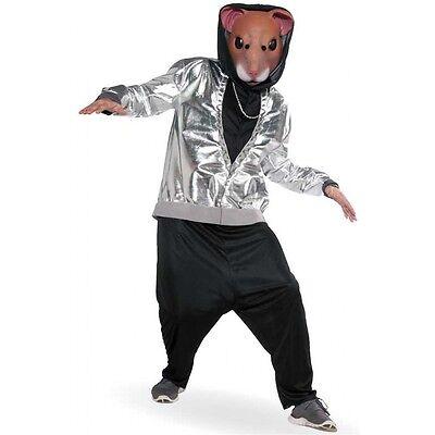 Hamster Costume Adult Hip Hop Funny Halloween Fancy Dress