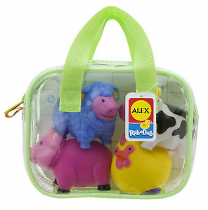Alex Farm Squirters for the Tub BATH TOY Pool Teething Kids Game Child AL700F