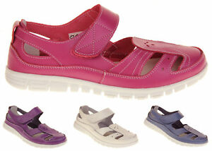 Womens-Wide-Fit-EEE-Leather-Mary-Jane-Shoes-Ladies-Summer-Sandals-Size-4-5-6-7-8
