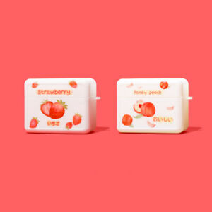 White-Strawberry-Honey-Peach-TPU-Soft-Case-Cover-For-Apple-Airpods-Pro-1st-amp-2nd