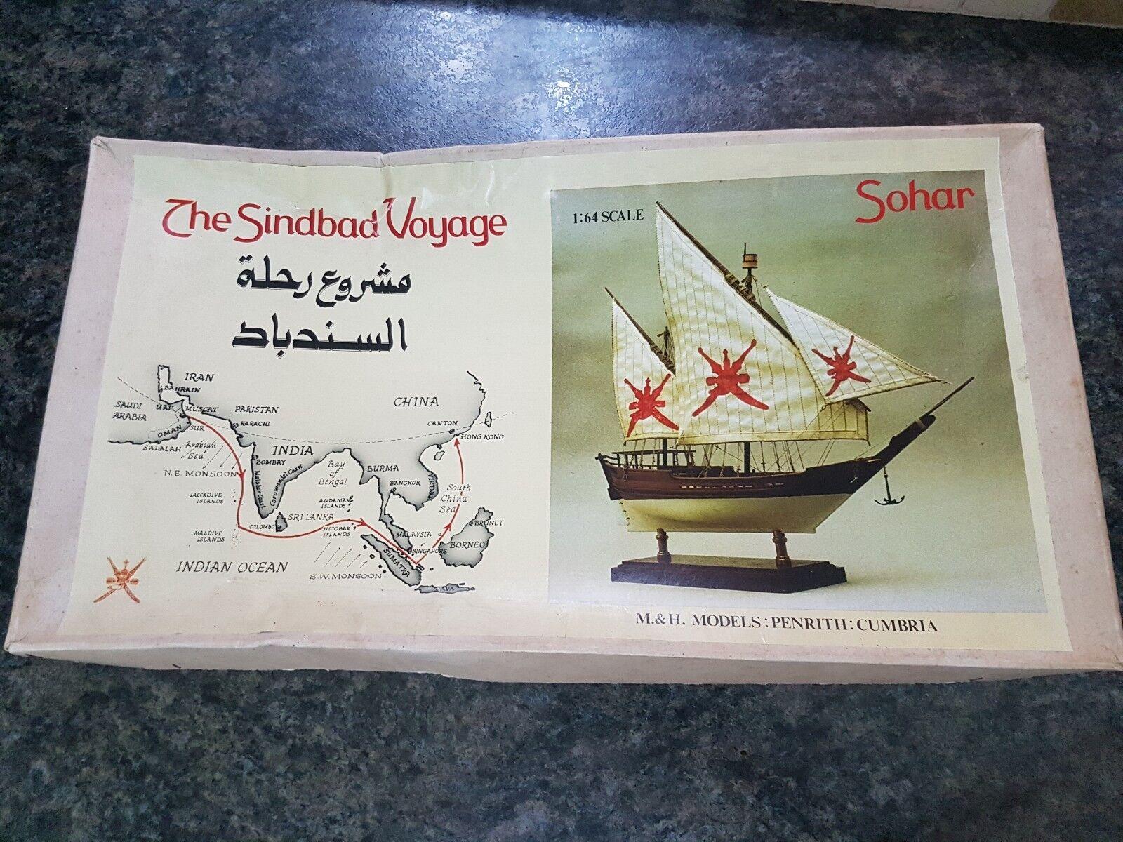 Sohar 1 64 The Sindbad Voyage Wooden Ship Great Condition Very Rare