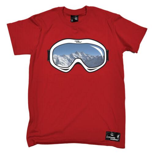 Ski Goggles T-SHIRT Him Her Mountain Snowboard Skiing Skis birthday fashion gift