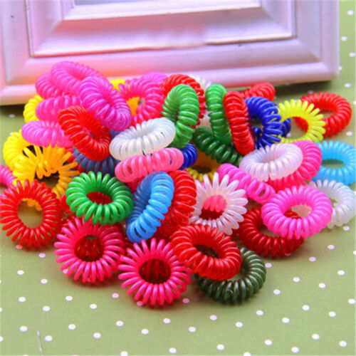 10 Pcs Plastic Hair Ties Spiral Hair Ties No Crease Coil Hair Tie Ponytail AL VG