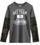 Epic Threads Boys Tee Shirt Size XL Long Sleeve Grey Camo Ski Team $32 NEW KD149