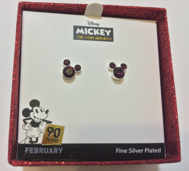668536f10 Disneys Mickey Mouse 90th Anniversary APRIL Birthstone Stud Earrings ...
