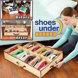 A-12-Pairs-Shoes-Storage-Organizer-Holder-Intake-Under-Bed-Closet-Fabric-Bag-Box