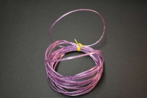 """4 Yards PURPLE HOLOGRAPHIC 1//8/""""  Flat Plastic Larva Lace for Fly Tying"""