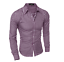 Mens-Cotton-Casual-Plaid-Shirts-Long-Sleeve-Slim-Bottoming-Shirts-Tops-7-Colors thumbnail 8