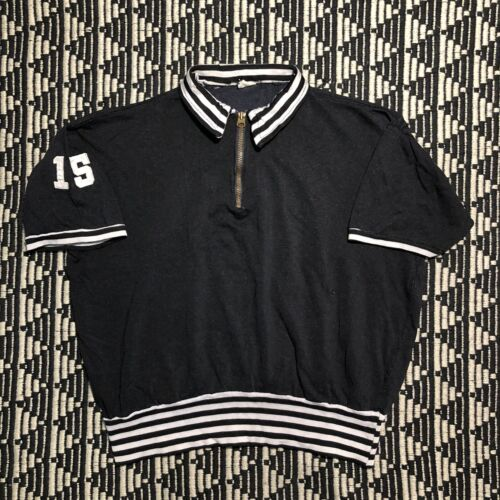 Vintage Champion Running Man Tag Pullover 1/4 Zip