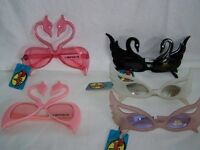 Dr.peepers White Swan/pink Flamingo/feather Costume Party Sunglasses/glasses