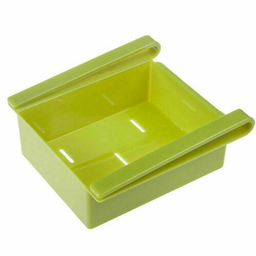 Home Kitchen Freezer Fridge Space Saver Storage Box Organizer Holder Shelf Rack
