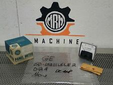 General Electric 50 152111lele2 Panel Meter 0 2 Dc Amperes New Old Stock