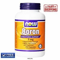 Now Foods Boron Dietary Supplement 3 Mg 250 Capsules Supports Bone Strength