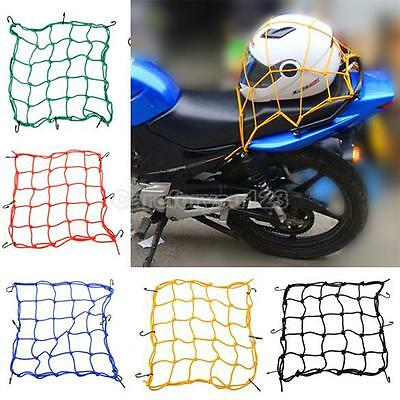 30*30cm Motorcycle 6Hooks Hold Down Fuel Tank Luggage Net Mesh Web Bungee Helmet