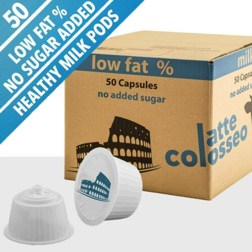 latte con pochi grassi, senza zucchero aggiunto,. Latte Macchiato COLOSSEO 50 DOLCE GUSTO BACCELLI compatibili
