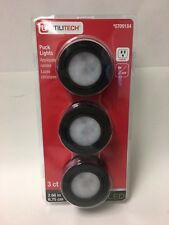 3packs of Utilitech Under Cabinet LED Puck Lights Bright White 3000k