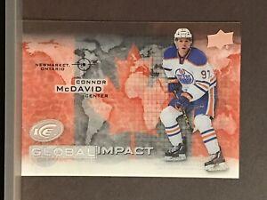 2015-16-Connor-McDavid-Rookie-Upper-Deck-Ice-Global-Impact-Acetate-RC-Oilers