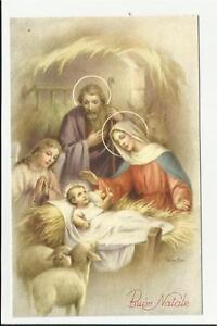 Immagini Sacre Di Buon Natale.Dettagli Su Antica Cartolina Di Buon Natale Sacra Famiglia Gesu Bambino Maria Vedi