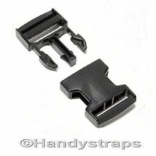25 x 20mm Black Plastic Side Release Buckles for webbing  Quick Release Buckles