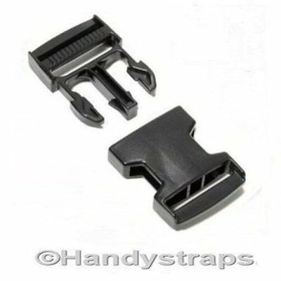25 x 20 mm Black Plastic Side Release Buckles for webbing Quick Release Buckles